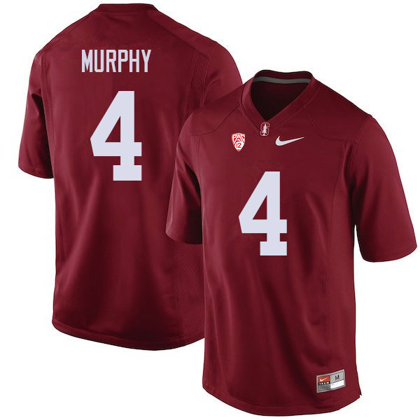 Men #4 Alameen Murphy Stanford Cardinal College Football Jerseys Sale-Cardinal