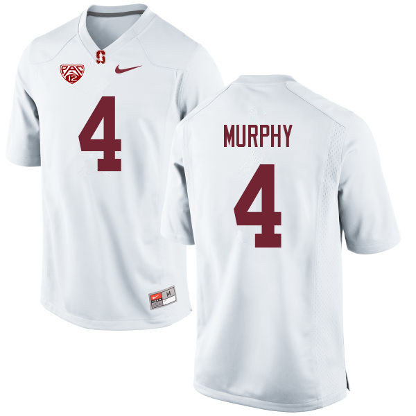 Men #4 Alameen Murphy Stanford Cardinal College Football Jerseys Sale-White