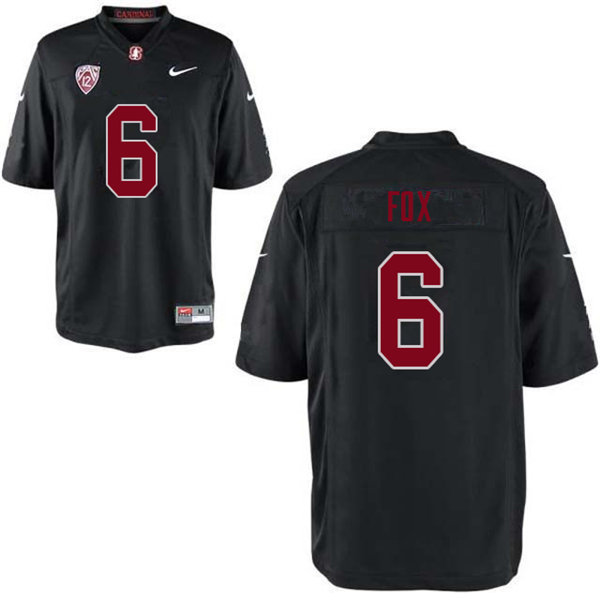 Men #6 Andres Fox Stanford Cardinal College Football Jerseys Sale-Black