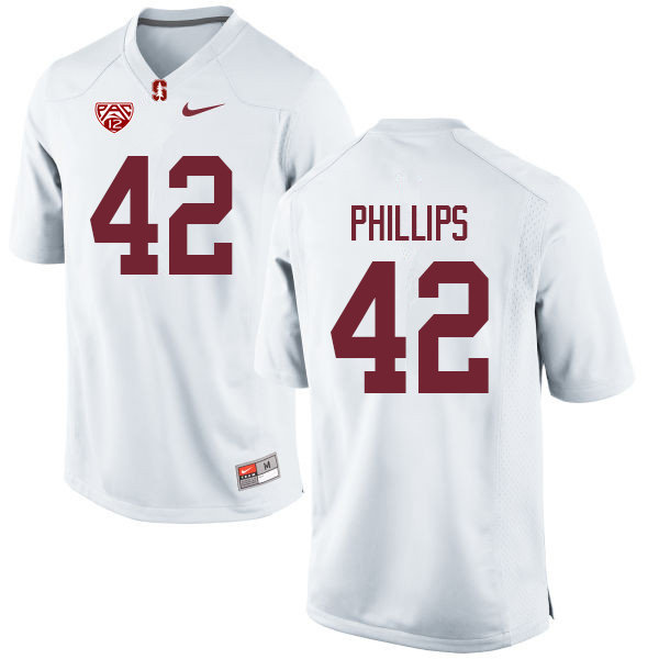 Men #42 Caleb Phillips Stanford Cardinal College Football Jerseys Sale-White