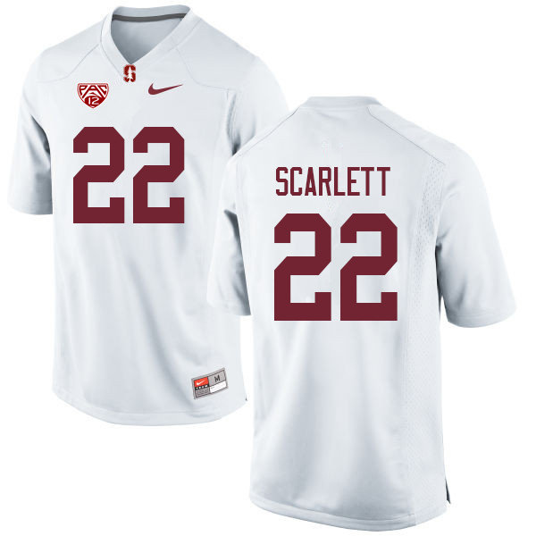 Men #22 Cameron Scarlett Stanford Cardinal College Football Jerseys Sale-White