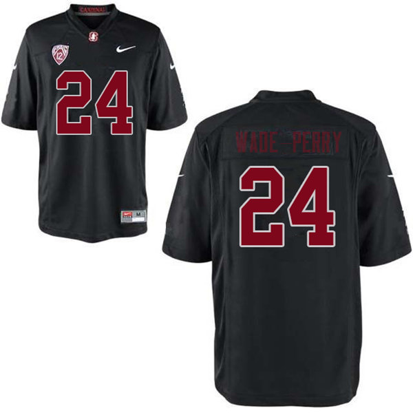 Men #24 Dalyn Wade-Perry Stanford Cardinal College Football Jerseys Sale-Black