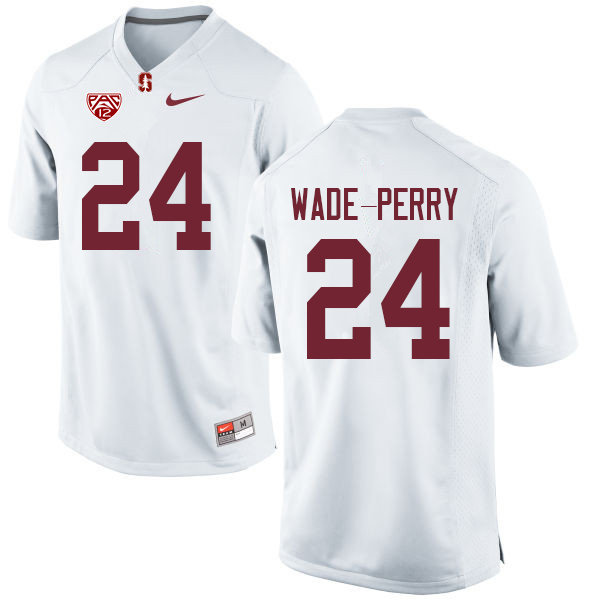 Men #24 Dalyn Wade-Perry Stanford Cardinal College Football Jerseys Sale-White