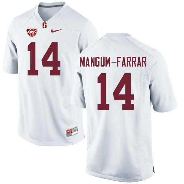 Men #14 Jacob Mangum-Farrar Stanford Cardinal College Football Jerseys Sale-White