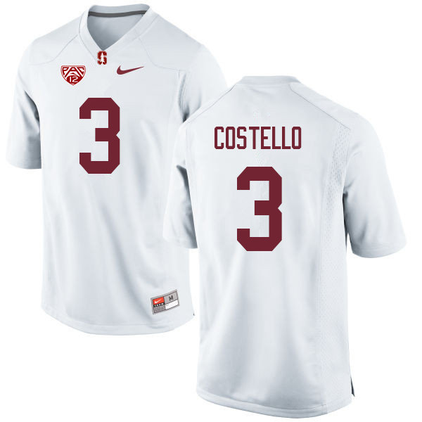 Men #3 K.J. Costello Stanford Cardinal College Football Jerseys Sale-White