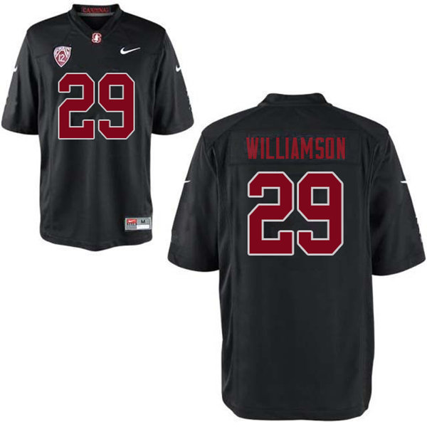 Men #29 Kendall Williamson Stanford Cardinal College Football Jerseys Sale-Black