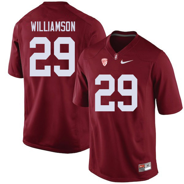 Men #29 Kendall Williamson Stanford Cardinal College Football Jerseys Sale-Cardinal
