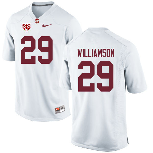 Men #29 Kendall Williamson Stanford Cardinal College Football Jerseys Sale-White