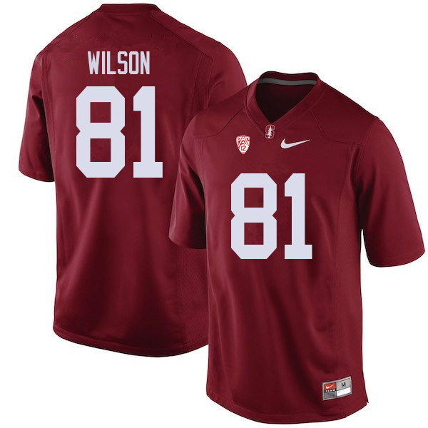 Men #81 Michael Wilson Stanford Cardinal College Football Jerseys Sale-Cardinal