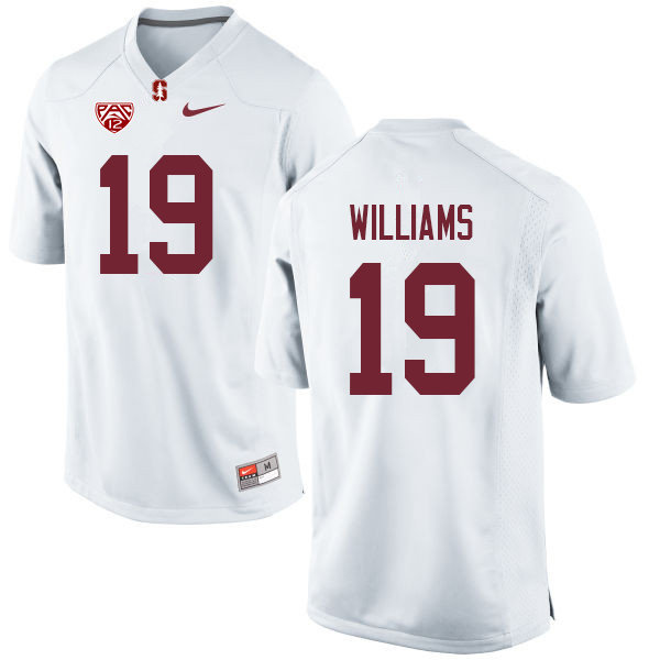 Men #19 Noah Williams Stanford Cardinal College Football Jerseys Sale-White