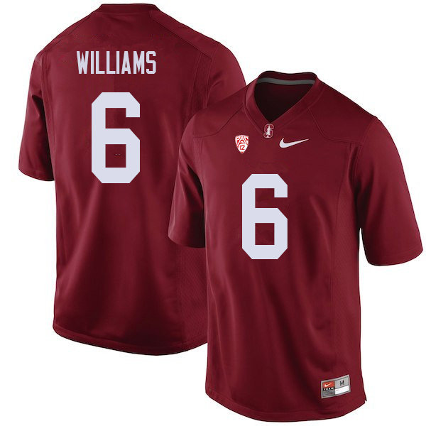 Men #6 Reagan Williams Stanford Cardinal College Football Jerseys Sale-Cardinal
