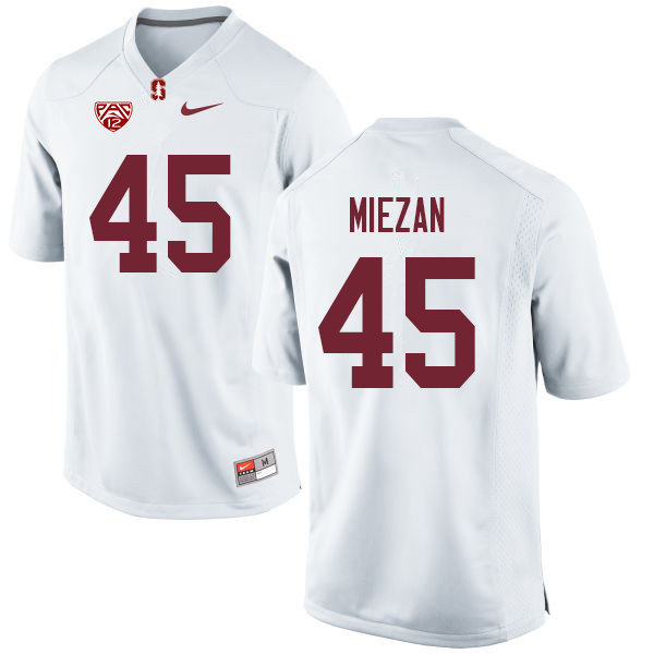 Men #45 Ricky Miezan Stanford Cardinal College Football Jerseys Sale-White