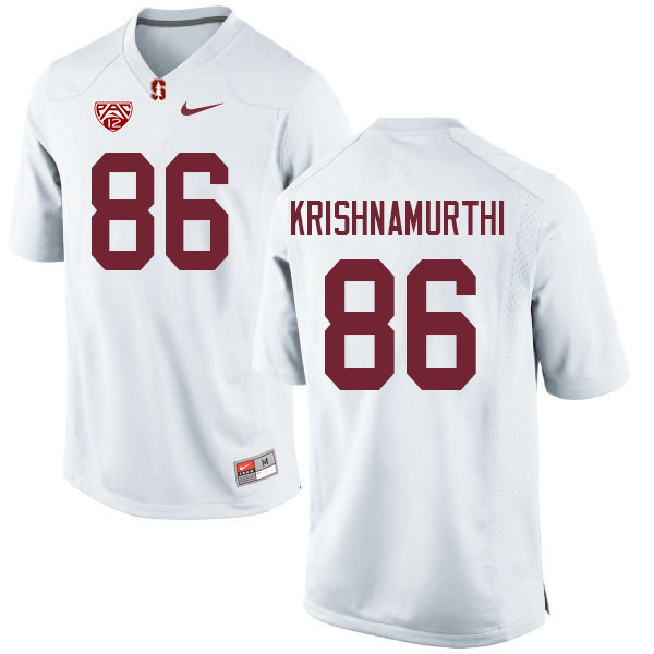Men #86 Sidhart Krishnamurthi Stanford Cardinal College Football Jerseys Sale-White