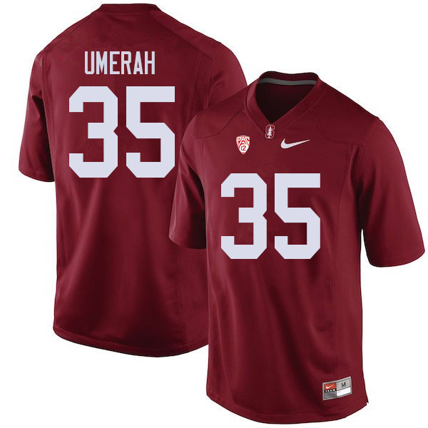 Men #35 Tobe Umerah Stanford Cardinal College Football Jerseys Sale-Cardinal