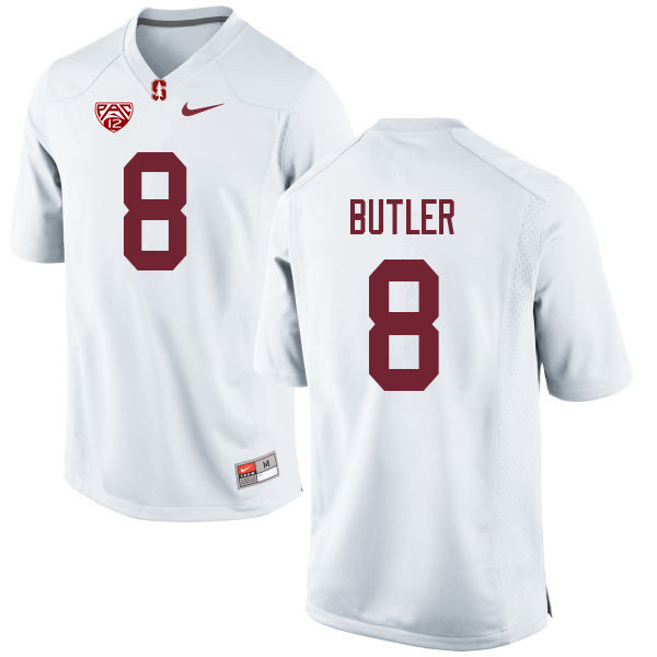 Men #8 Treyjohn Butler Stanford Cardinal College Football Jerseys Sale-White