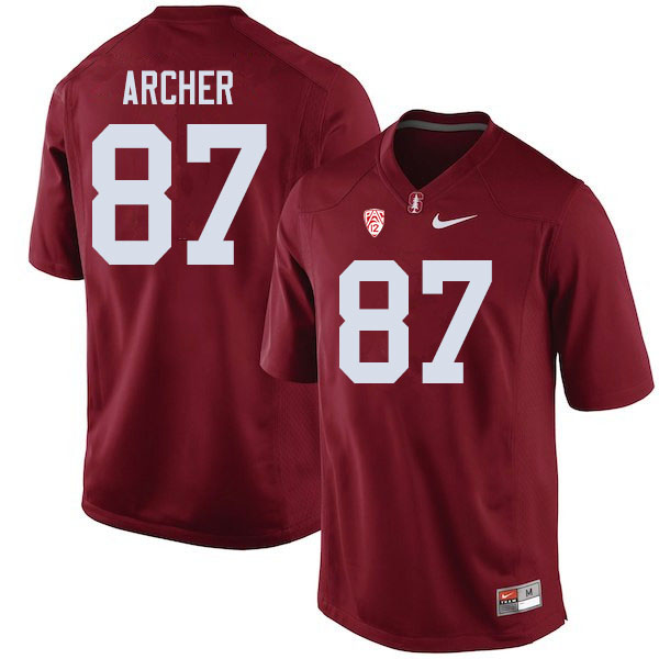 Men #87 Bradley Archer Stanford Cardinal College Football Jerseys Sale-Cardinal