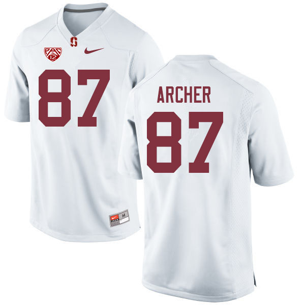 Men #87 Bradley Archer Stanford Cardinal College Football Jerseys Sale-White