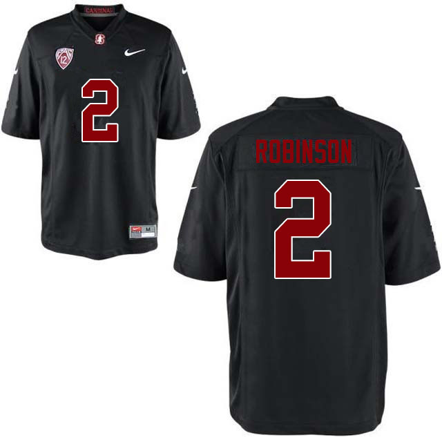 Men #2 Curtis Robinson Stanford Cardinal College Football Jerseys Sale-Black