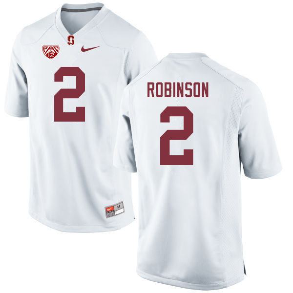 Men #2 Curtis Robinson Stanford Cardinal College Football Jerseys Sale-White