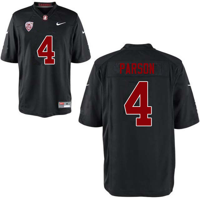 Men #4 J.J. Parson Stanford Cardinal College Football Jerseys Sale-Black