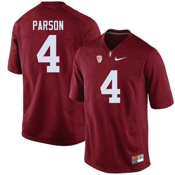 Men #4 J.J. Parson Stanford Cardinal College Football Jerseys Sale-Cardinal
