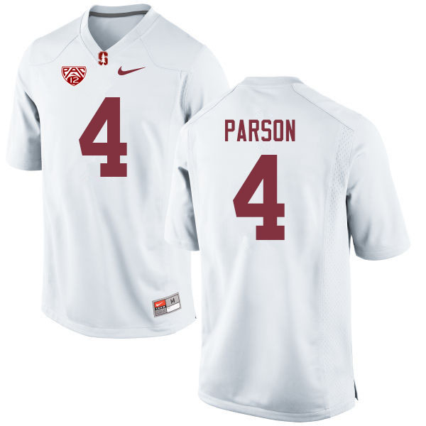 Men #4 J.J. Parson Stanford Cardinal College Football Jerseys Sale-White