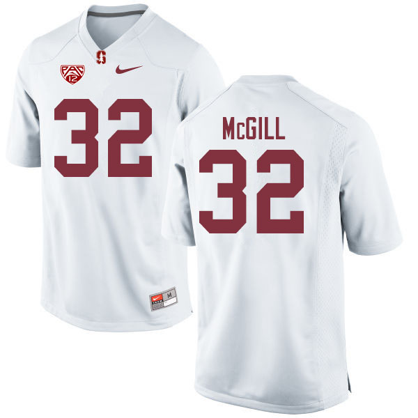 Men #32 Jonathan McGill Stanford Cardinal College Football Jerseys Sale-White