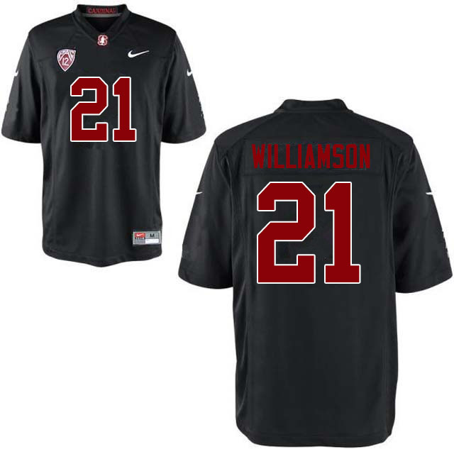 Men #21 Kendall Williamson Stanford Cardinal College Football Jerseys Sale-Black