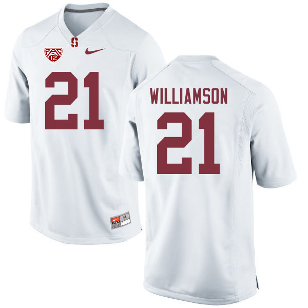 Men #21 Kendall Williamson Stanford Cardinal College Football Jerseys Sale-White