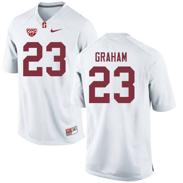 Men #23 Marcus Graham Stanford Cardinal College Football Jerseys Sale-White