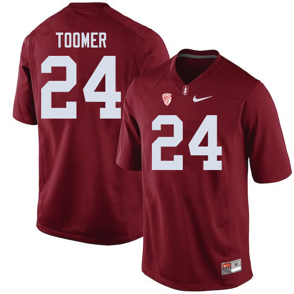 Men #24 Nicolas Toomer Stanford Cardinal College Football Jerseys Sale-Cardinal
