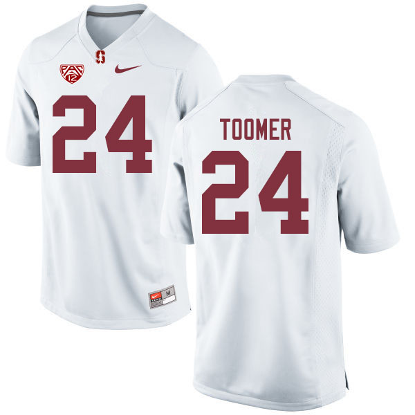 Men #24 Nicolas Toomer Stanford Cardinal College Football Jerseys Sale-White