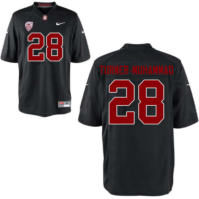 Men #28 Salim Turner-Muhammad Stanford Cardinal College Football Jerseys Sale-Black