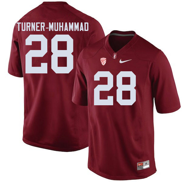 Men #28 Salim Turner-Muhammad Stanford Cardinal College Football Jerseys Sale-Cardinal