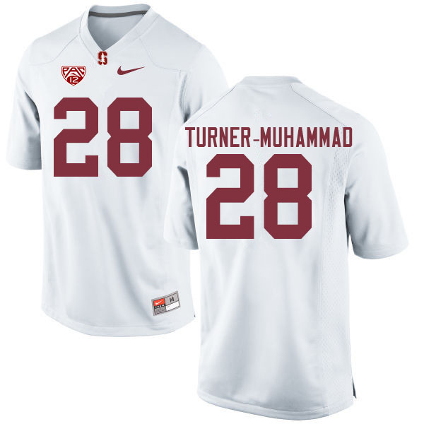 Men #28 Salim Turner-Muhammad Stanford Cardinal College Football Jerseys Sale-White
