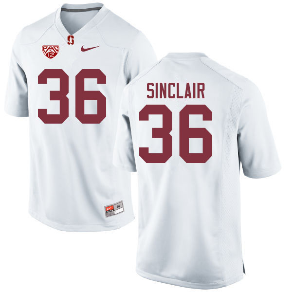 Men #36 Tristan Sinclair Stanford Cardinal College Football Jerseys Sale-White