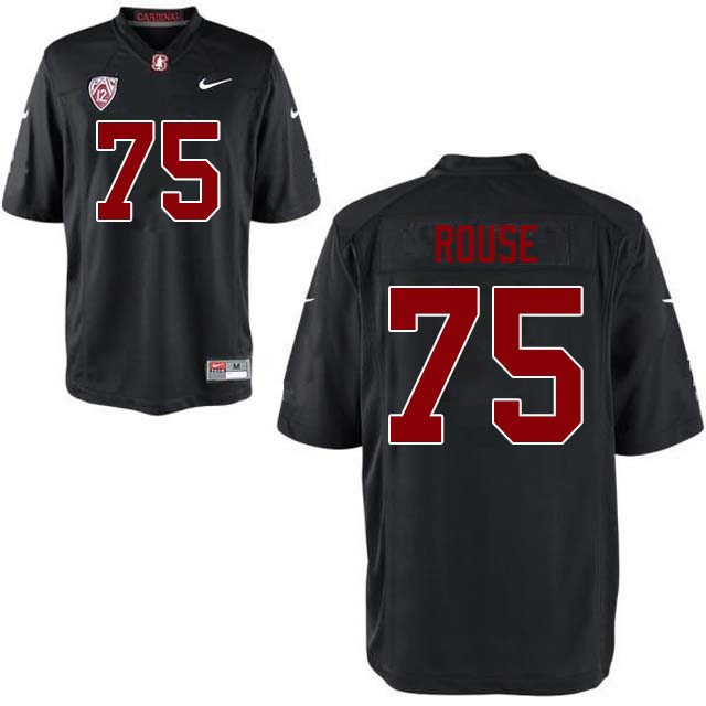 Men #75 Walter Rouse Stanford Cardinal College Football Jerseys Sale-Black
