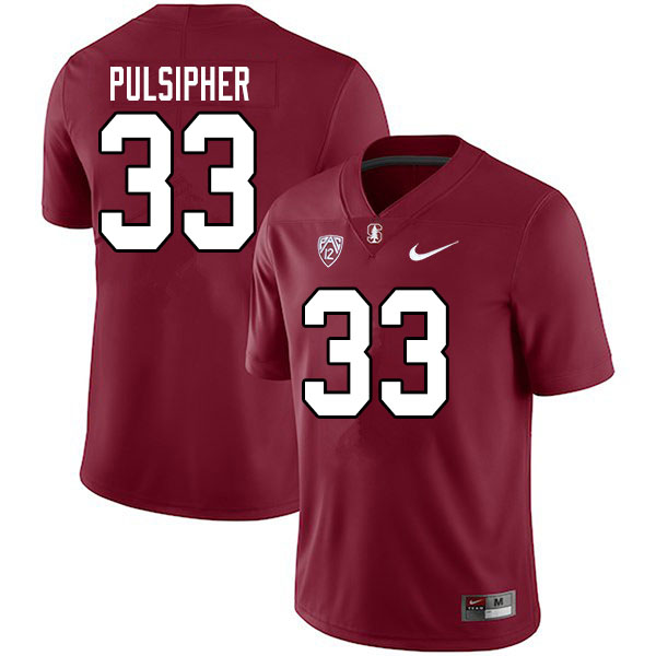Men #33 Anson Pulsipher Stanford Cardinal College Football Jerseys Sale-Cardinal
