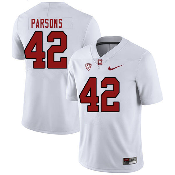 Men #42 Bailey Parsons Stanford Cardinal College Football Jerseys Sale-White