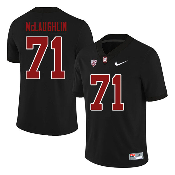 Men #71 Connor McLaughlin Stanford Cardinal College Football Jerseys Sale-Black