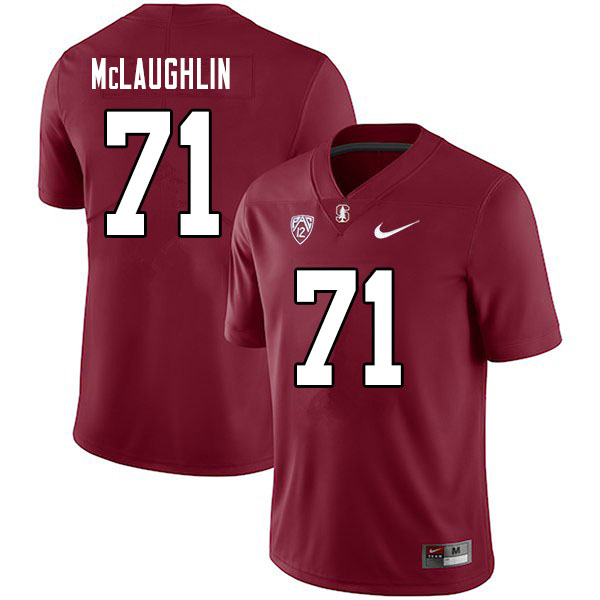 Men #71 Connor McLaughlin Stanford Cardinal College Football Jerseys Sale-Cardinal