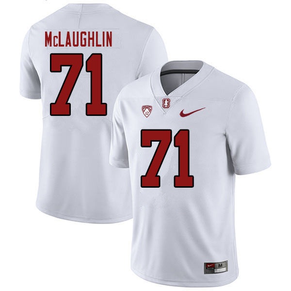 Men #71 Connor McLaughlin Stanford Cardinal College Football Jerseys Sale-White