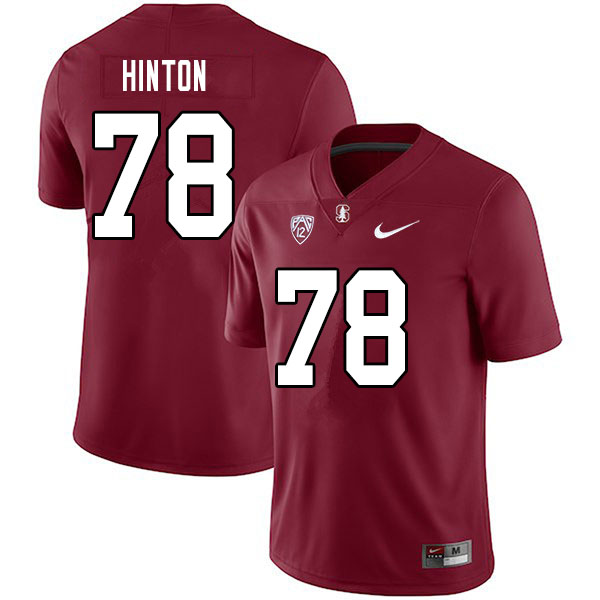 Men #78 Myles Hinton Stanford Cardinal College Football Jerseys Sale-Cardinal