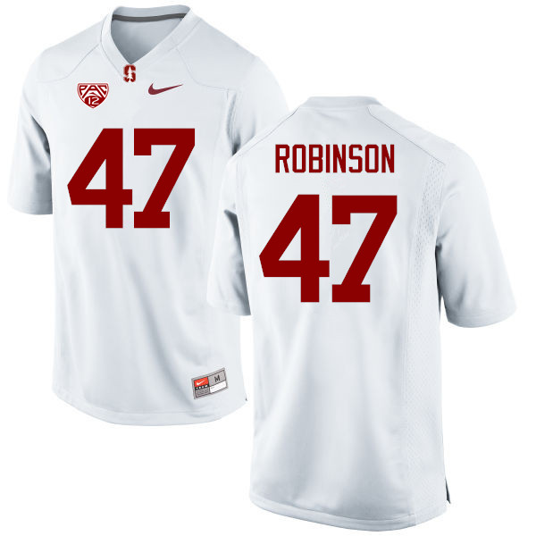 Men Stanford Cardinal #47 Alex Robinson College Football Jerseys Sale-White
