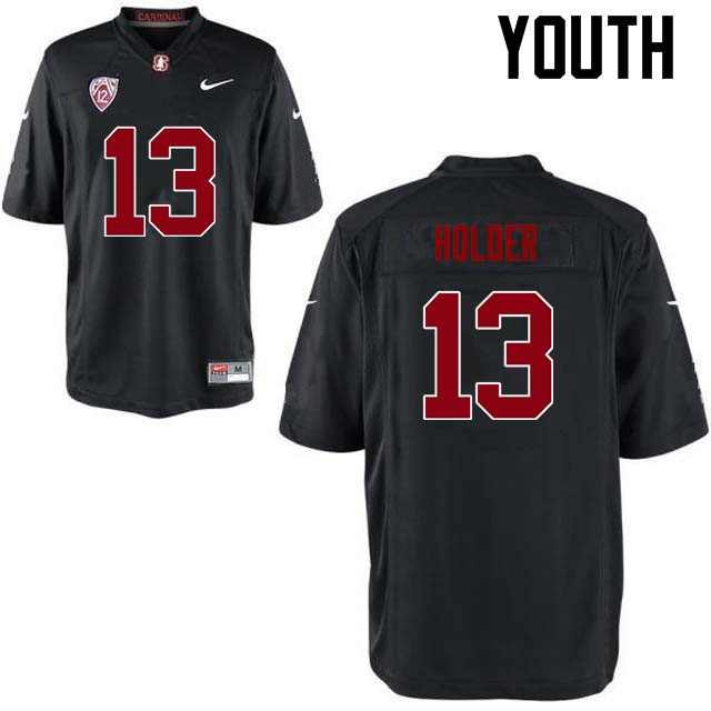 Youth Stanford Cardinal #13 Alijah Holder College Football Jerseys Sale-Black
