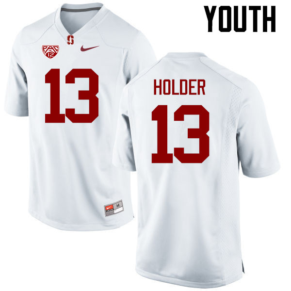 Youth Stanford Cardinal #13 Alijah Holder College Football Jerseys Sale-White