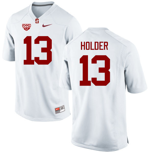 Men Stanford Cardinal #13 Alijah Holder College Football Jerseys Sale-White