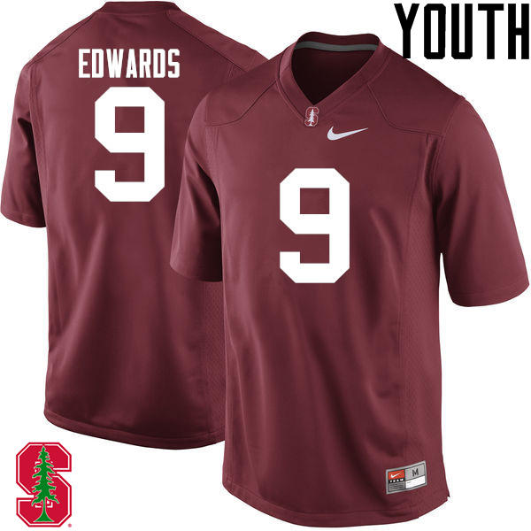 Youth Stanford Cardinal #9 Ben Edwards College Football Jerseys Sale-Cardinal
