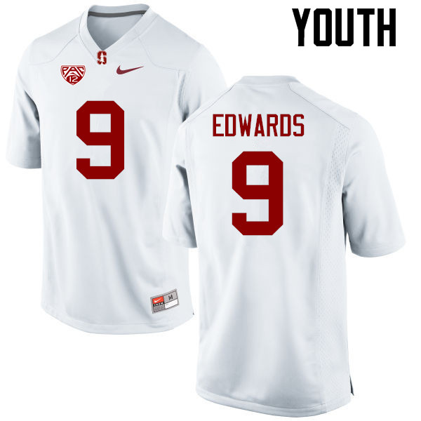 Youth Stanford Cardinal #9 Ben Edwards College Football Jerseys Sale-White