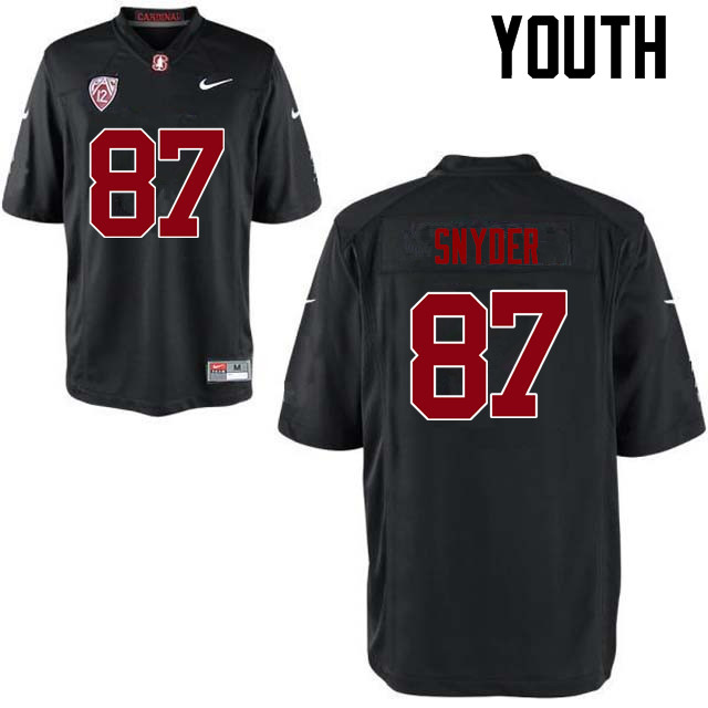 Youth Stanford Cardinal #87 Ben Snyder College Football Jerseys Sale-Black